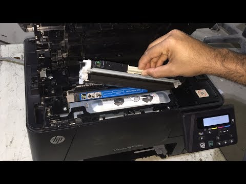 Replacing Toner Cartridges on HP Color LaserJet Pro MFP M176n and M177fw Printers