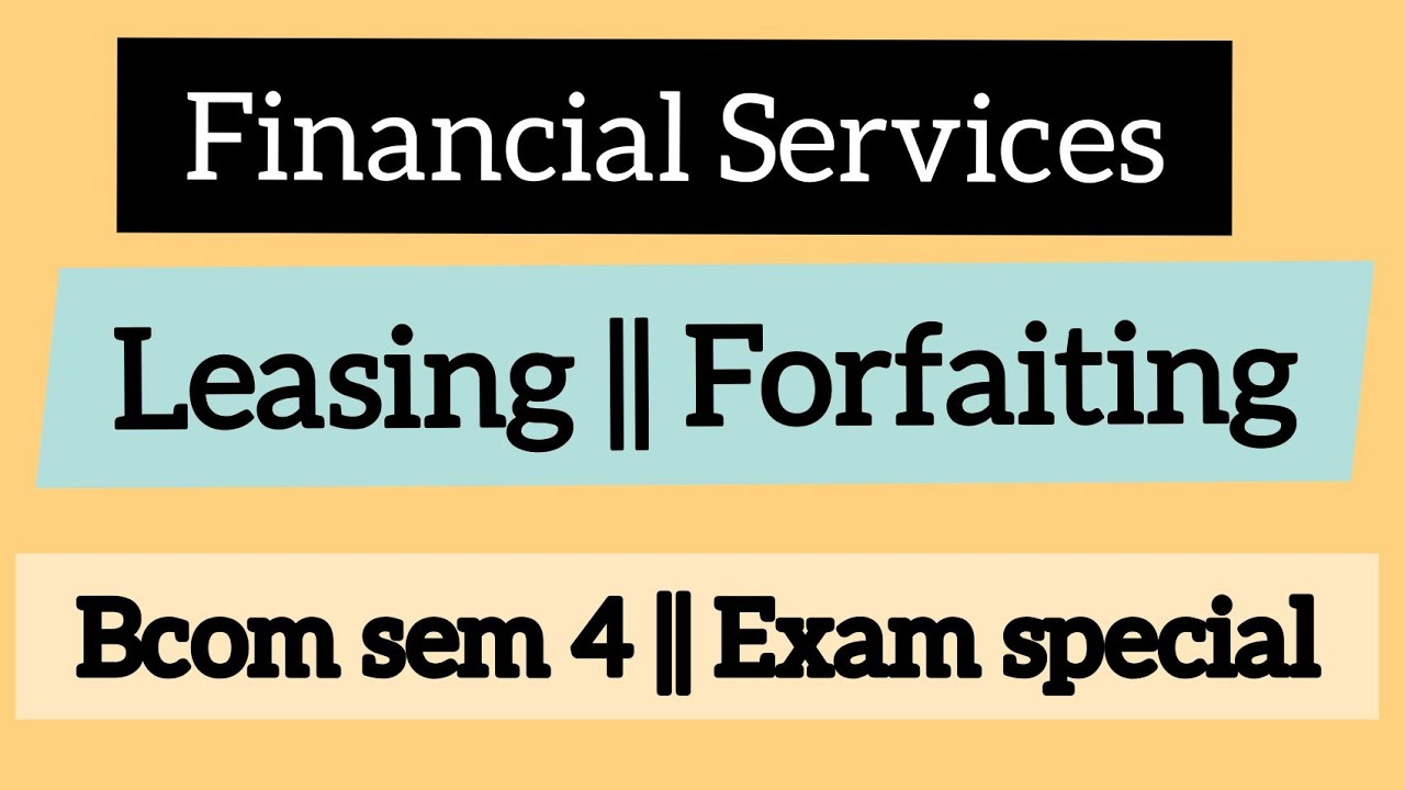 Factoring || Forfaiting || Financial Services ||Commerce Companion