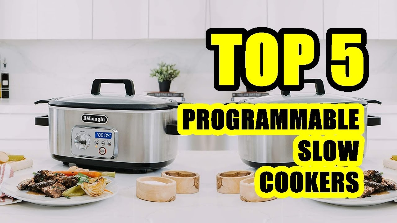 DeLonghi Slow Cooker 6 Qt Programmable Stovetop-Safe Pot Silver//Stainless Steel