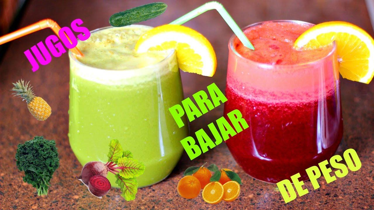 5 jugos naturales para bajar de peso