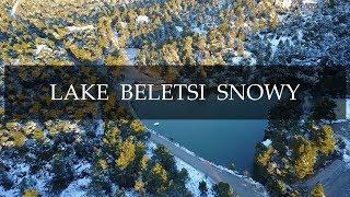 Ιπποκράτειος Πολιτεία. Λίμνη Μπελέτσι Χιονισμένα. 6/1/2019  Up Drones