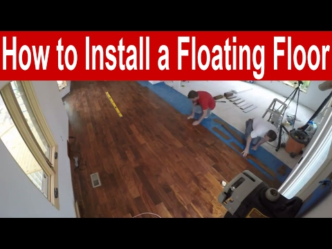 How to Install an Engineered Hardwood Floating Floor with Finishing Tips