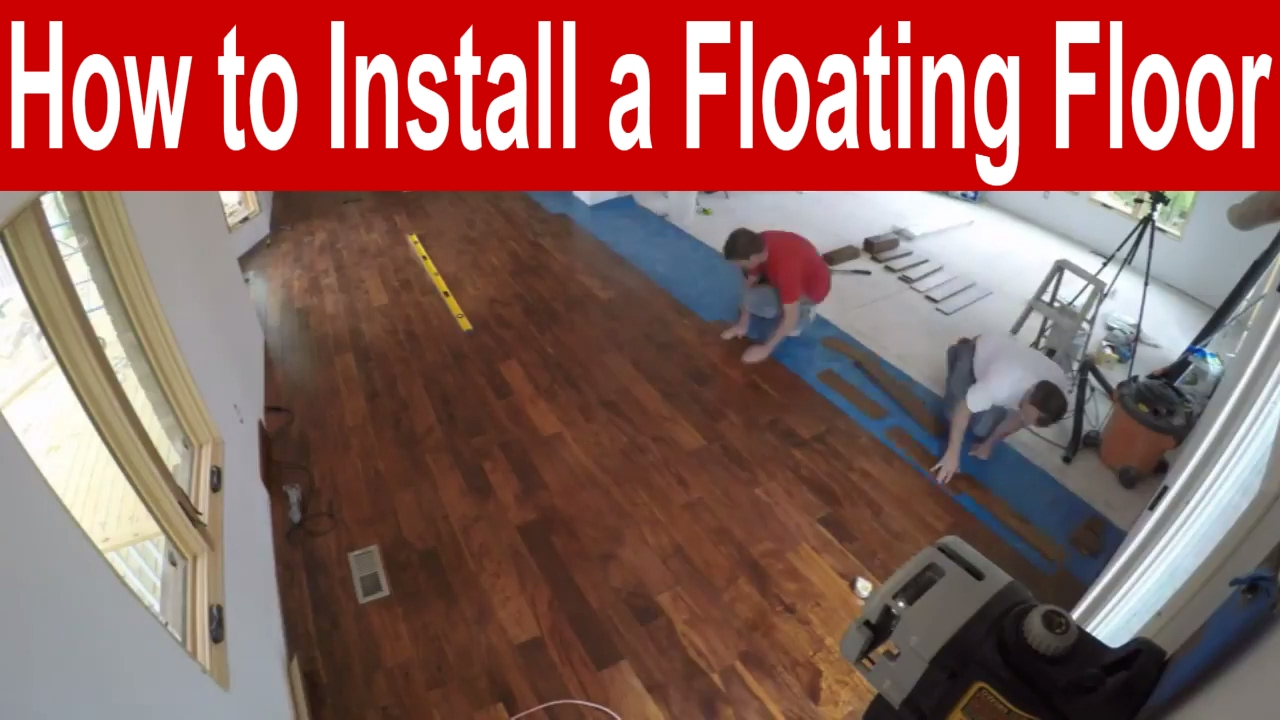 How To Install An Engineered Hardwood Floating Floor With Finishing