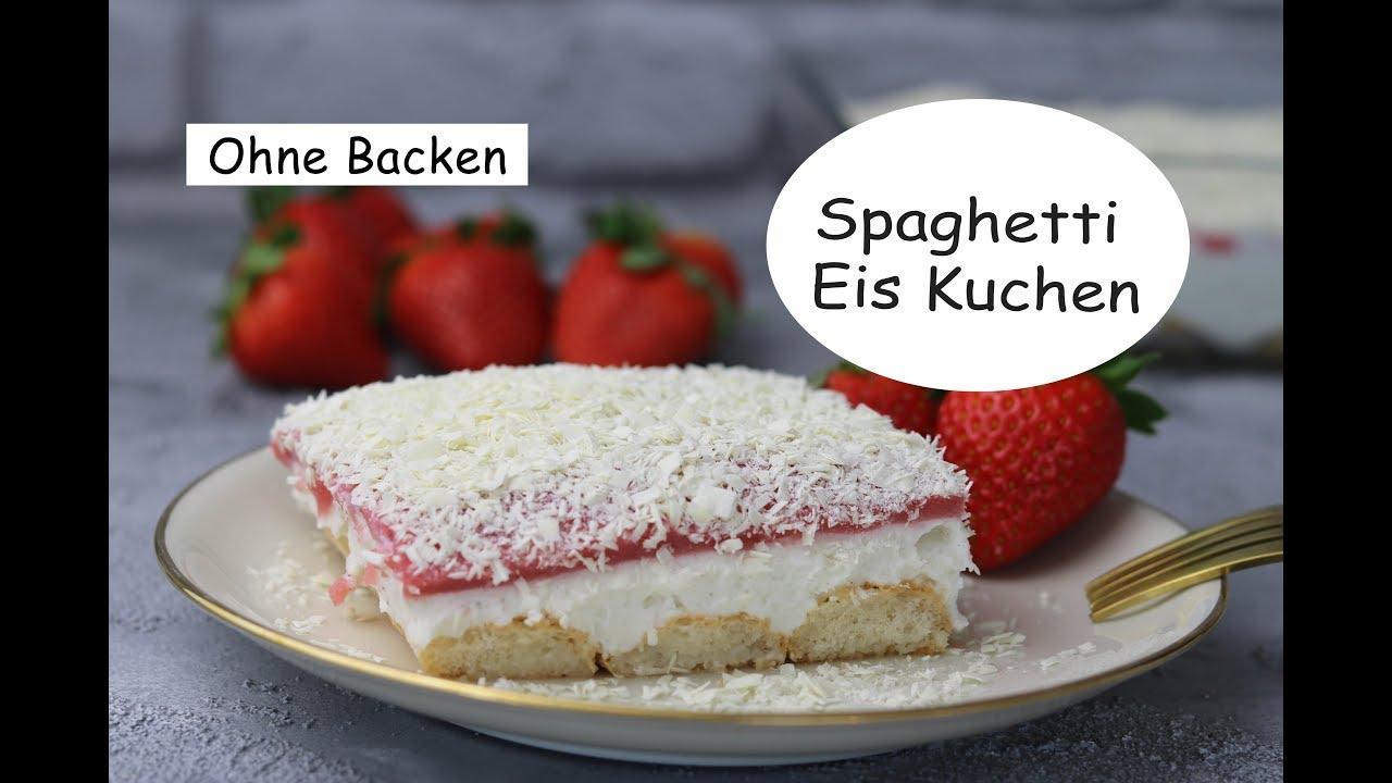 Spaghetti Eis Kuchen No Bake Sandras Kochblog