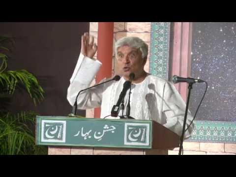 Javed Akhtar In Mushaira Jashn E Bahar 2107 Delhi Urdu Poetry