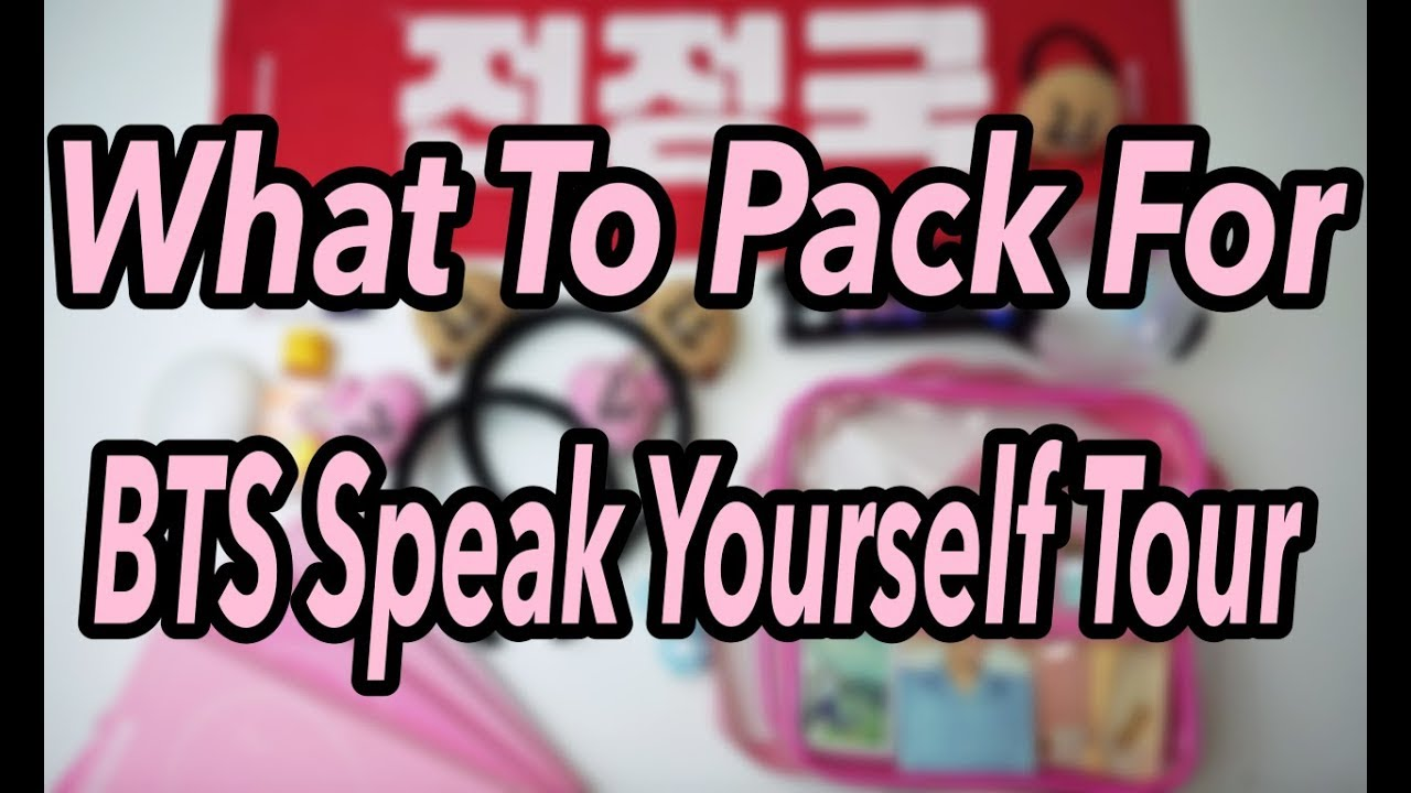 What's in our BTS Speak Yourself Tour Bag | BTS Concert Prep!!