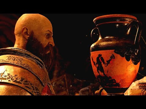 God of War PS4 - Kratos finds Spartan Relics