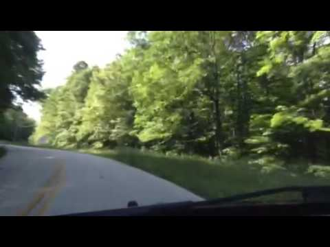 Driving up to Brasstown Bald, highest point in Georgia