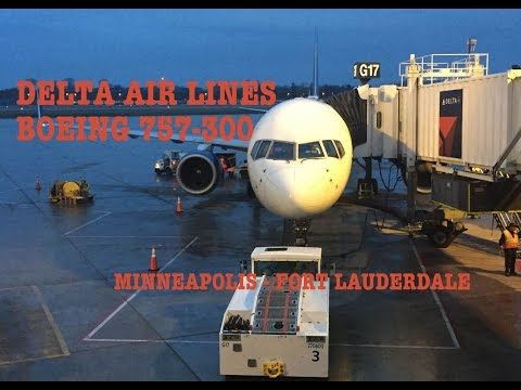 #37: BOEING 757 || FLIGHT TRIP REPORT || Delta Air Lines DL1608 || Minneapolis to Fort Lauderdale