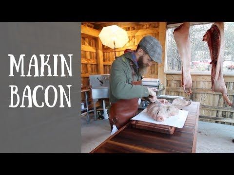 How to Cut Jowl Bacon With  Hand Hewn Farm