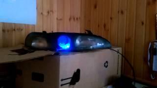 RGB Подсветка линзы. Toyota trueno ae101(Подвеска RGB лентой, линзы фары, с блоком радио управления., 2015-05-17T20:35:22.000Z)