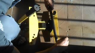 Небольшие хитрости при работе с гидравлическим трубогибом(Видео уроки по работе с ручным гидравлическим трубогибом., 2014-09-06T13:49:45.000Z)