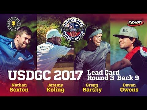 USDGC 2017 Round 3 Lead Card Back 9