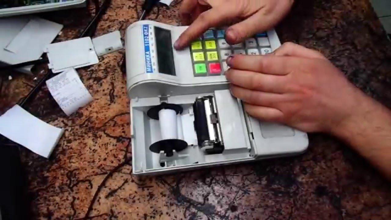 инструкция как поменять кассовую ленту орион 100к видео