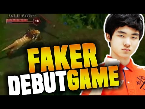Faker's First Professional Game - The Debut Of The Best Player In LoL History ( The God Was Born )