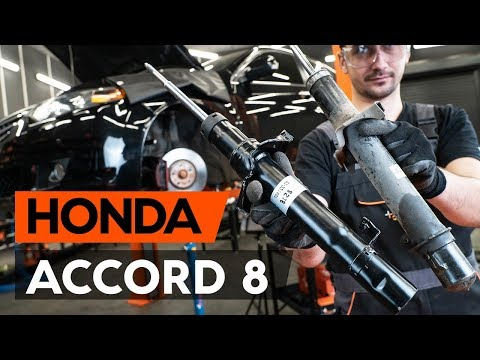 How to replace a front shock strut onHONDA ACCORD 8 (CU2)[TUTORIAL AUTODOC]