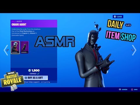 ASMR   Fortnite Chaos Agent Set Is Back! Daily Item Shop Update 🎮🎧 Relaxing Whispering 😴💤