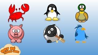 Nhận biết con vật | Tổng hợp động vật con gà, con vịt, con heo, con cá, con chim | Dạy bé thông minh