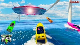 GTA 5 EPIC WINDMILL BOAT RACE w/The CREW - The Sea of the Dead!! GTA 5 Funny Moments