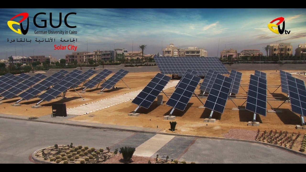 German University in Cairo - GUC Solar city