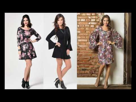 24daab40dc Modelos de Vestido de Inverno Curto Manga Longa (+ Dicas no Blog!)