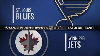 Blues vs Jets   First Round  Game 5   Apr 18,  2019