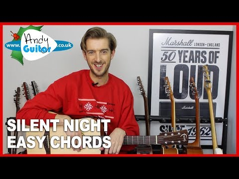 Silent Night Guitar lesson tutorial - Easy 4 chord Christmas Guitar Song