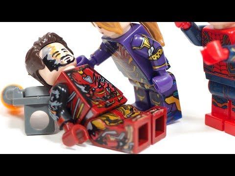 Avengers Endgame Superhero Iron Man Death Punisher War Machine Armor Unofficial Lego Minifigures