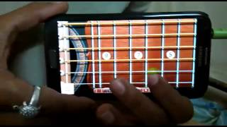 Real guitar android-tujhe dekha to Yeh Jana sanam
