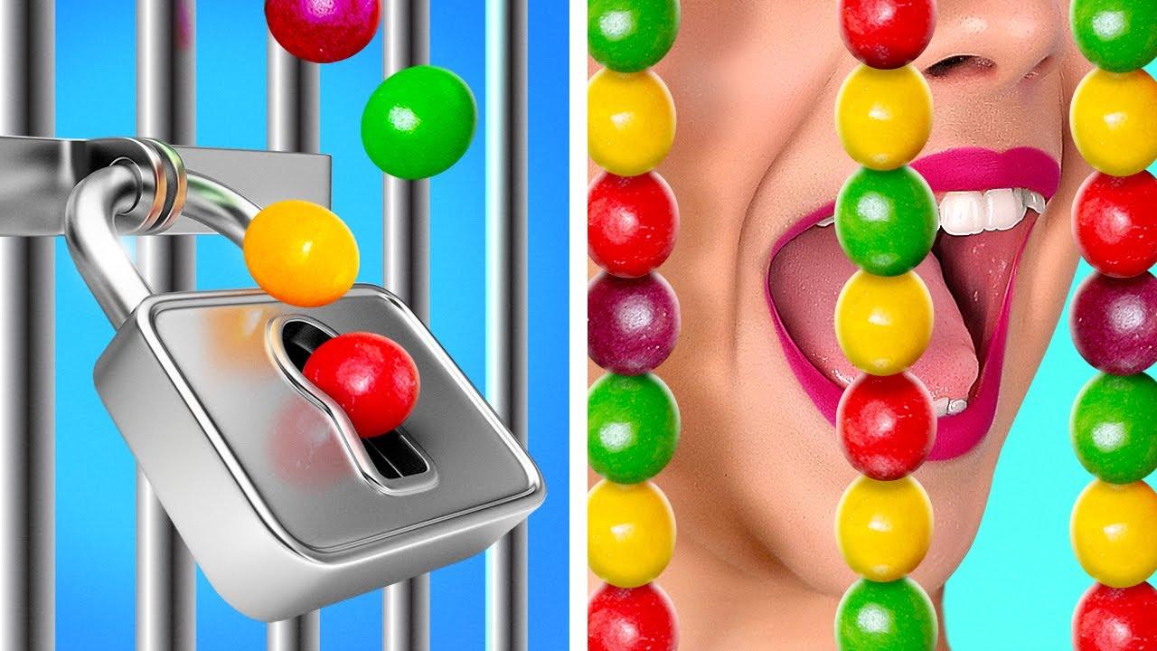 LAS MEJORES FORMAS DE COLAR COMIDA || Colar dulces en un hospital, club y escuela con 123 GO! GOLD
