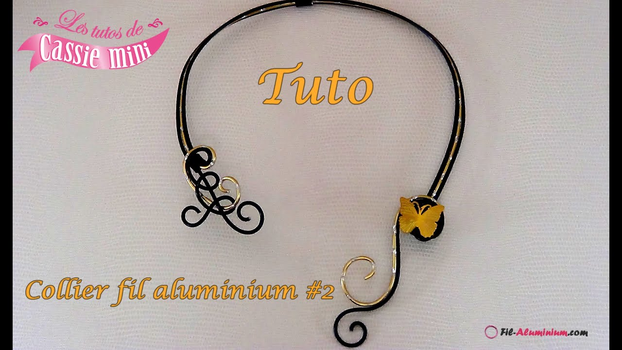 tuto collier festif en fil aluminium 2 youtube. Black Bedroom Furniture Sets. Home Design Ideas