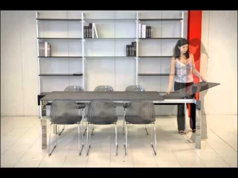 Come aprire e chiudere il tavolo allungabile Universe 130 - YouTube
