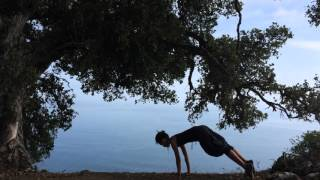 Simple Sun Salutation at Tanbark Trail, Big Sur, CA