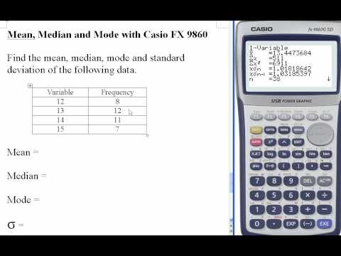 Mean Median Mode With Grouped Data Youtube