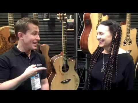 Yvonne deVilliers Luna Guitars NAMM 2010 - Billy Penn  300guit