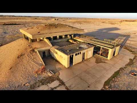 Orford Ness Atomic Weapons Research Establishment by Drone