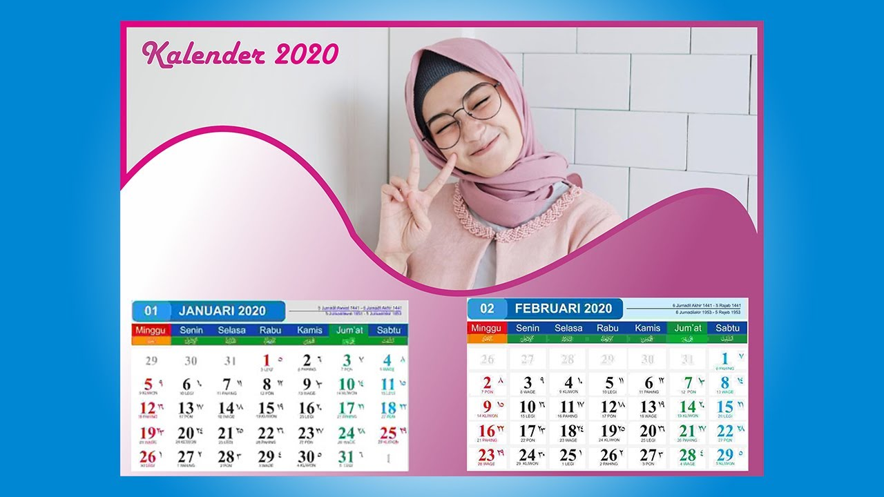 Cara Membuat Desain kalender 2020 dari corel draw mudah ...