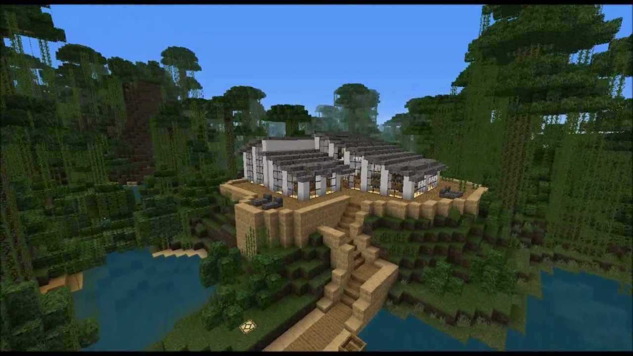 Minecraft Modern Jungle House Youtube