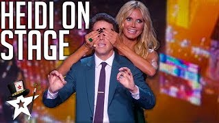 Magicians Bring Heidi Klum To The Stage on America's Got Talent | Magicians Got Talent