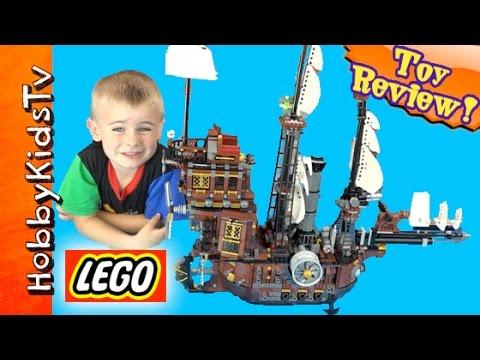 The Lego Movie Sea Cow Ship! Play, BOX OPEN + Toy Review HobbyFrog Set 70810  HobbyKidsTV