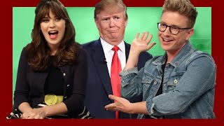 Compliment Wars with Zooey Deschanel | The Tyler Oakley Show