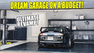 homepage tile video photo for Building our DREAM GARAGE on a BUDGET! House garage is FINISHED!