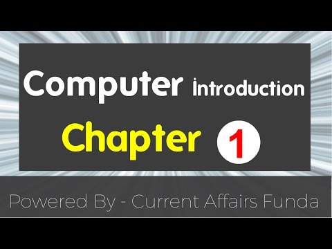 Introduction to computer - chapter 1 (PO,Clerk,SBI,IBPS,Railway,SSC,AAO and all Govt exams )