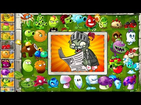 Every Plant Power-Up! vs Newspaper Zombies in NEW Plants vs Zombies 2