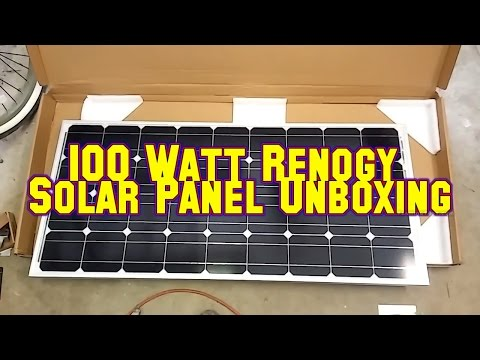 Unboxing 100 Watt Renogy Solar Panel And Charge Controller For the Camper Van