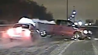 Police Dashcam Video Shows Officer And Woman Struck By Car