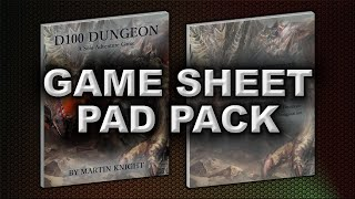 GAME SHEET PAD PACK (D100 DUNGEON)