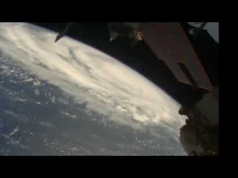 The ISS flying over Super Typhoon Hagibis Tuesday 8 October 2019