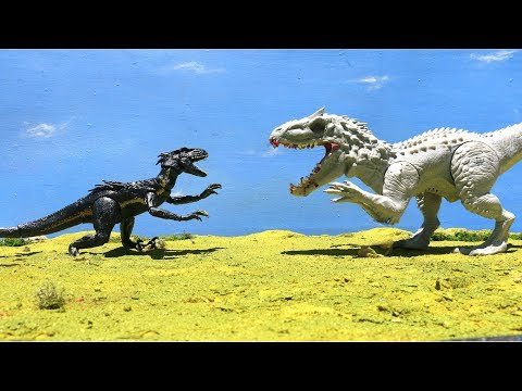 INDORAPTOR Vs. INDOMINUS REX - Full Battle [HD]