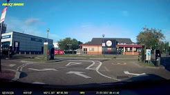UK Dash cam - Argos van driver wasnt looking where he was going!